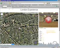 london experience screen Google maps