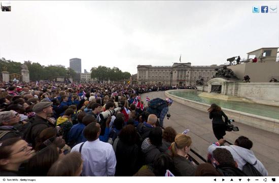 Royal Wedding Crowds