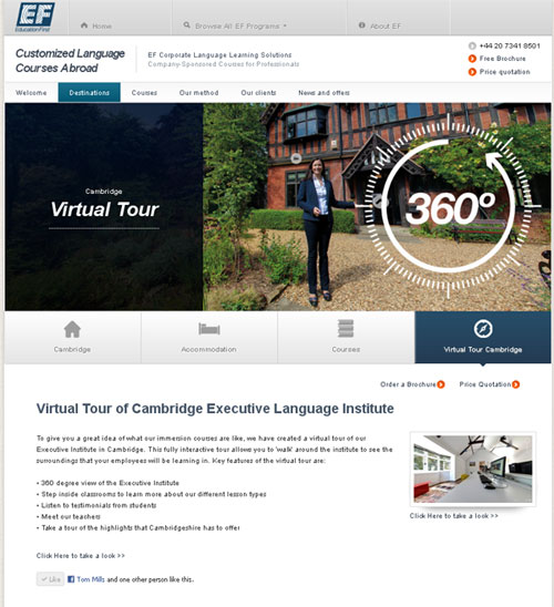 ef screen 1 EF Schools New Virtual Tour Includes Streetview !