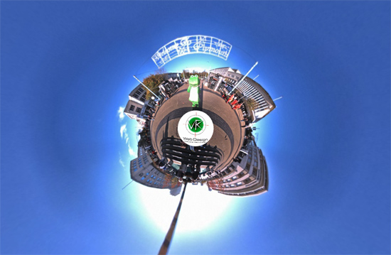 frog1 Little planet 360 video