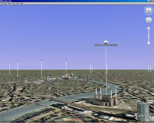 ge lavt 2 London Aerial Virtual Tour on Google Earth