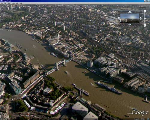 ge lavt 3 London Aerial Virtual Tour on Google Earth